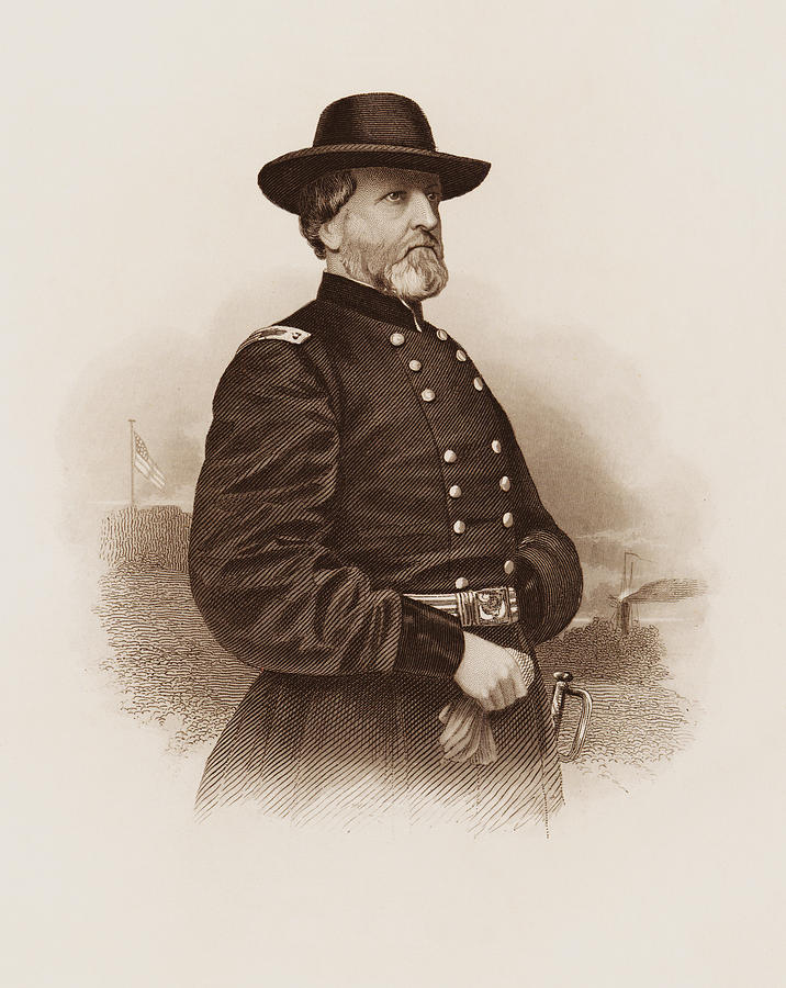 General George Henry Thomas Engraved Portrait by War Is Hell Store