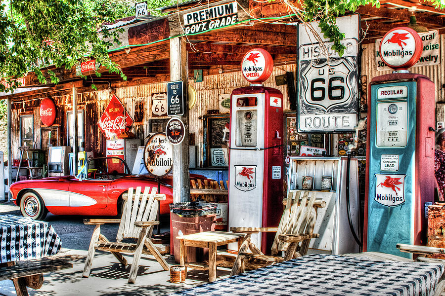 Route 66 Photograph - General Store by Jack and Darnell Est