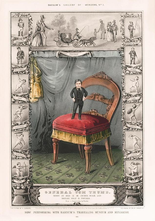 General Tom Thumb - Barnums Gallery Of Wonders - 1849 Mixed Media