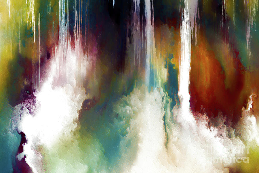 Red Painting - Genesis 1 1. In The Beginning. by Mark Lawrence