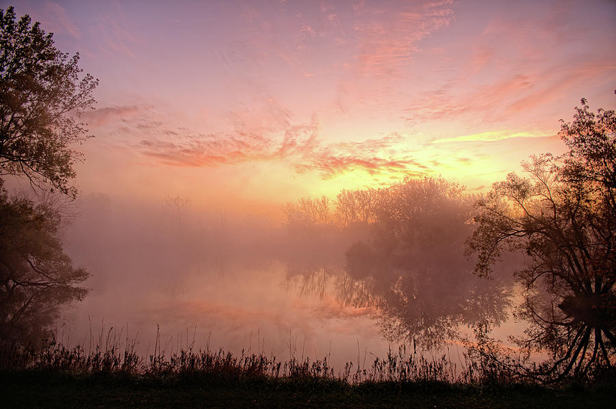 Morning Photograph - Geneva North Fog by Bonfire Photography