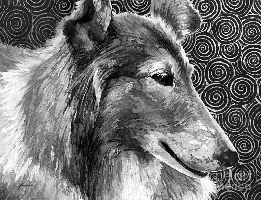 Gentle Spirit In Black And White Painting