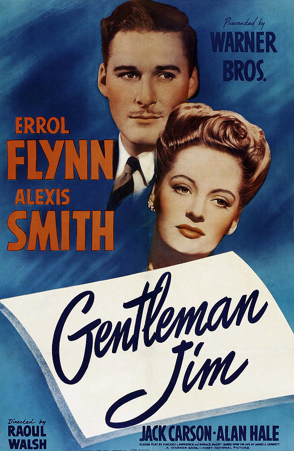 gentleman Jim, With Errol Flynn And Alexis Smith, 1942 Mixed Media