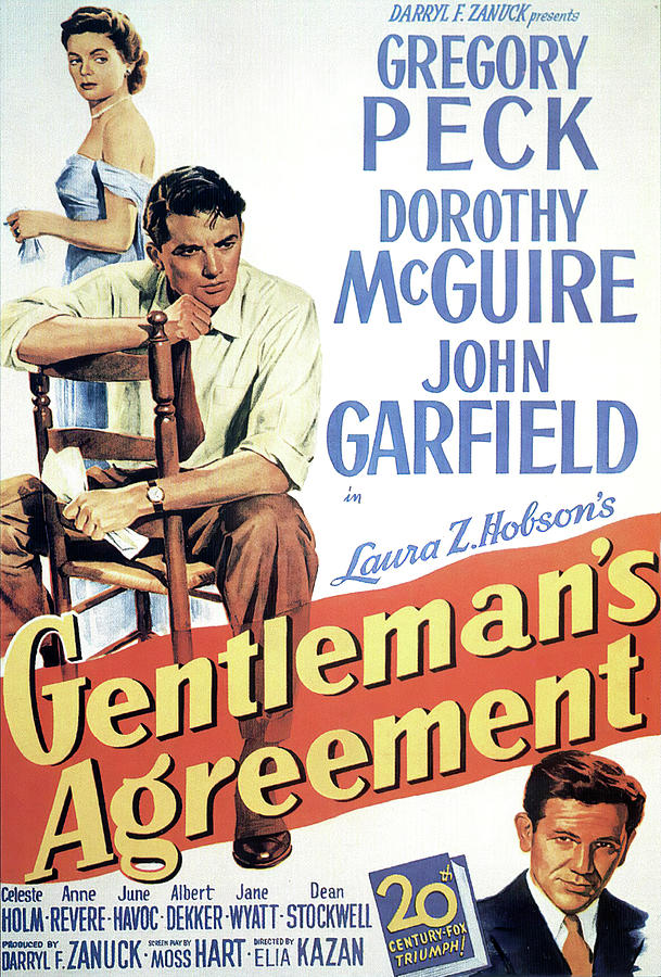 gentlemans Agreement, With Gregory Peck And Dorothy Mcguire Mixed Media