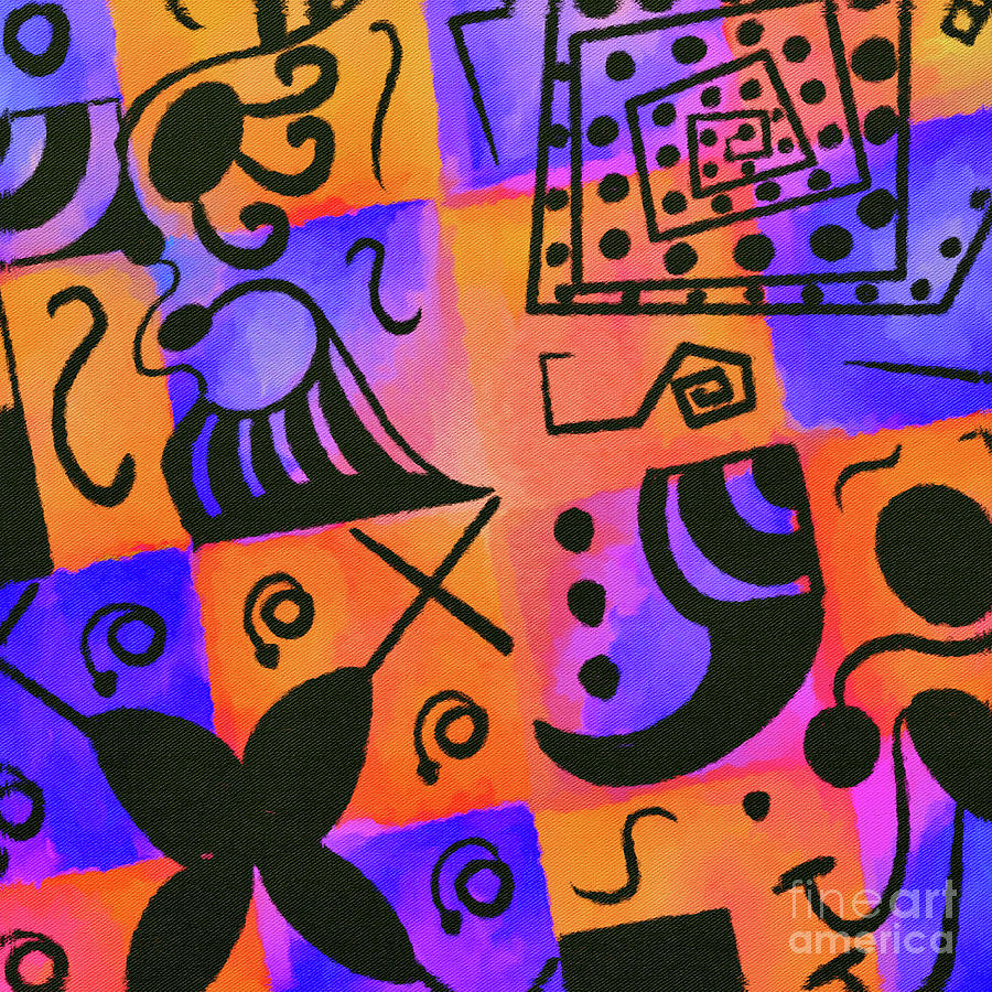 Geometric Doodle Pattern Digital Art
