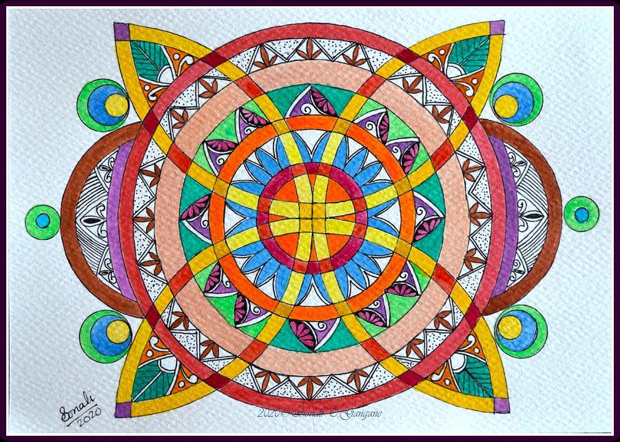 Geometric Mandala 2 Drawing