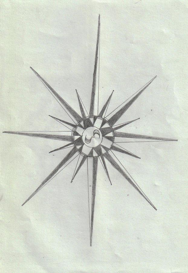 Geometrical Drawing - Geometrical Star Shape by Sandeep Choudhary