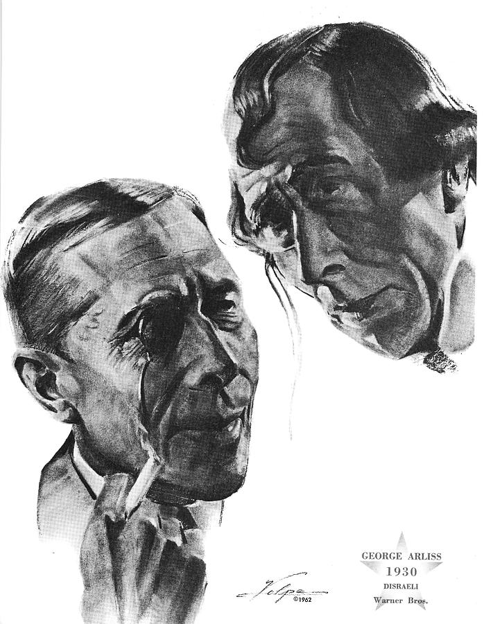 George Arliss By Volpe Drawing