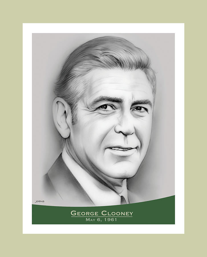George Clooney Birthday Drawing