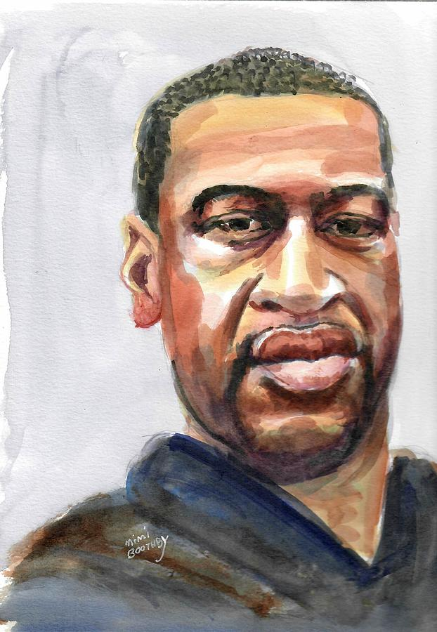 Blackman Painting - George Floyd by Mimi Boothby