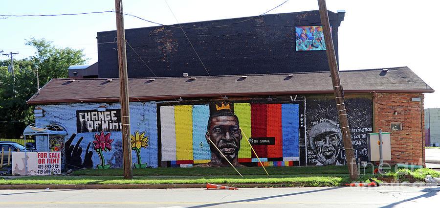 George Floyd Mural Toledo Ohio 9886 Photograph by Jack Schultz