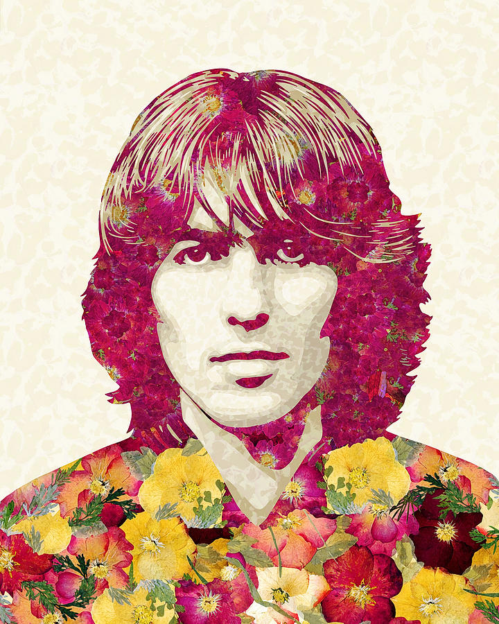Rock N Roll Mixed Media - George Harrison Artwork, The Beatles Art, George Harrison Poster by Irina Pospelova