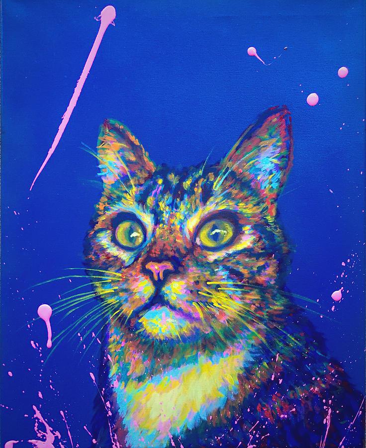 Cat Painting - George by Jacob Wayne Bryner