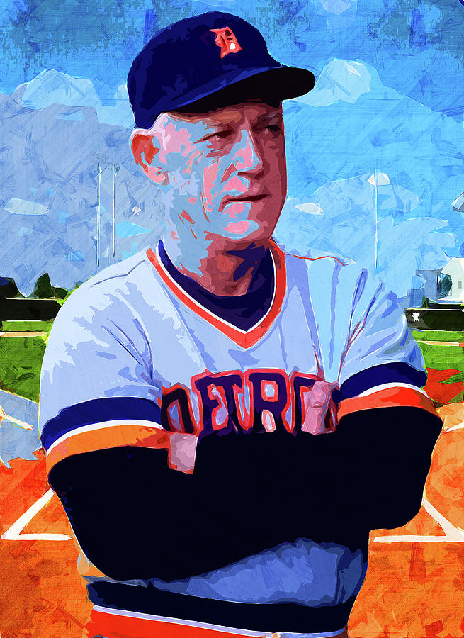 George Lee Sparky Anderson by Max Huber