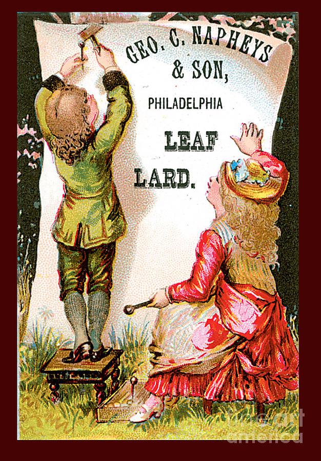 George Napheys Leaf Lard Advertisement Painting