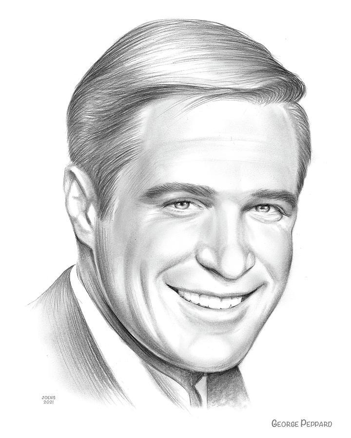 George Peppard Drawing - George Peppard - Pencil by Greg Joens
