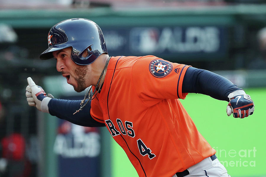 George Springer Photograph by Gregory Shamus