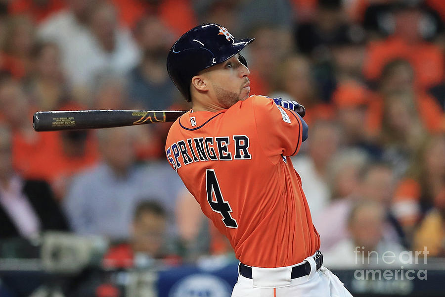 George Springer Photograph by Ronald Martinez