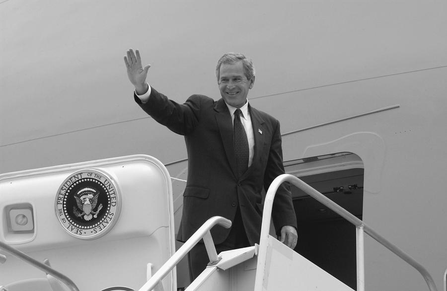 George W. Bush Entering Air Force One - 2002 by War Is Hell Store