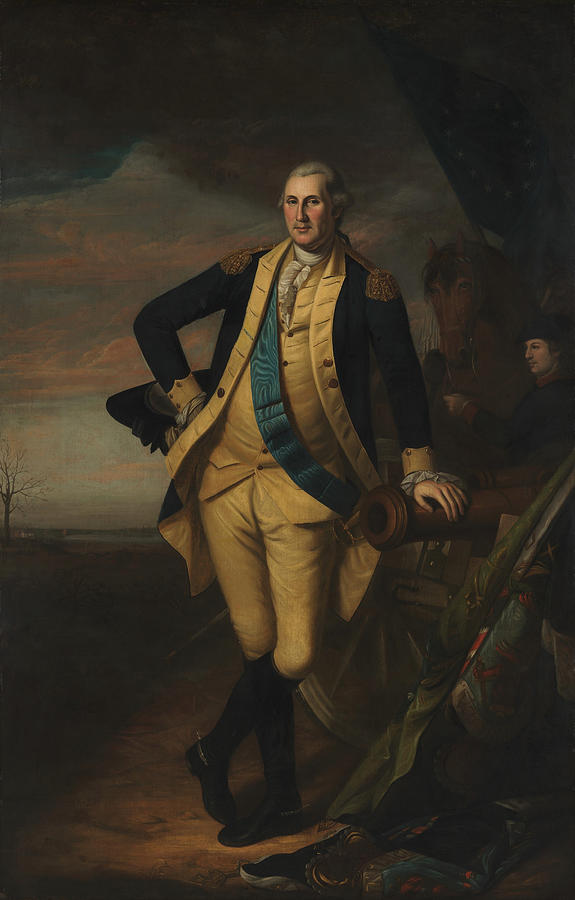 George Washington at the Battle of Princeton - Charles Wilson Peale by War Is Hell Store