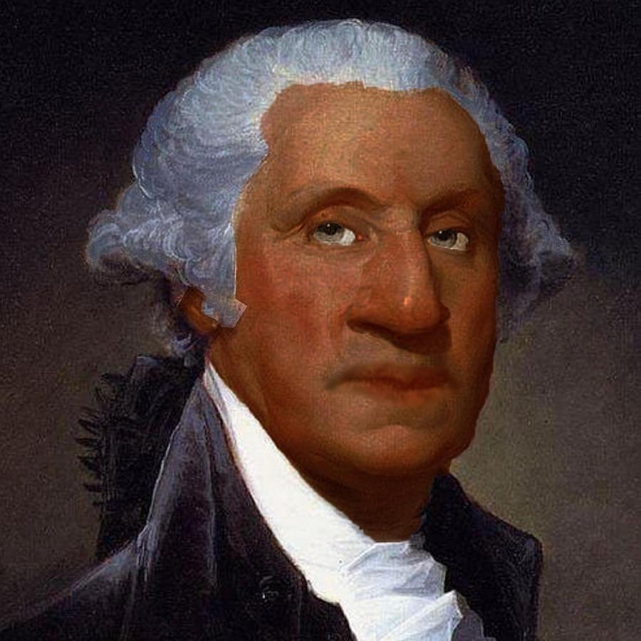 George Washington Black Lives Matter Painting