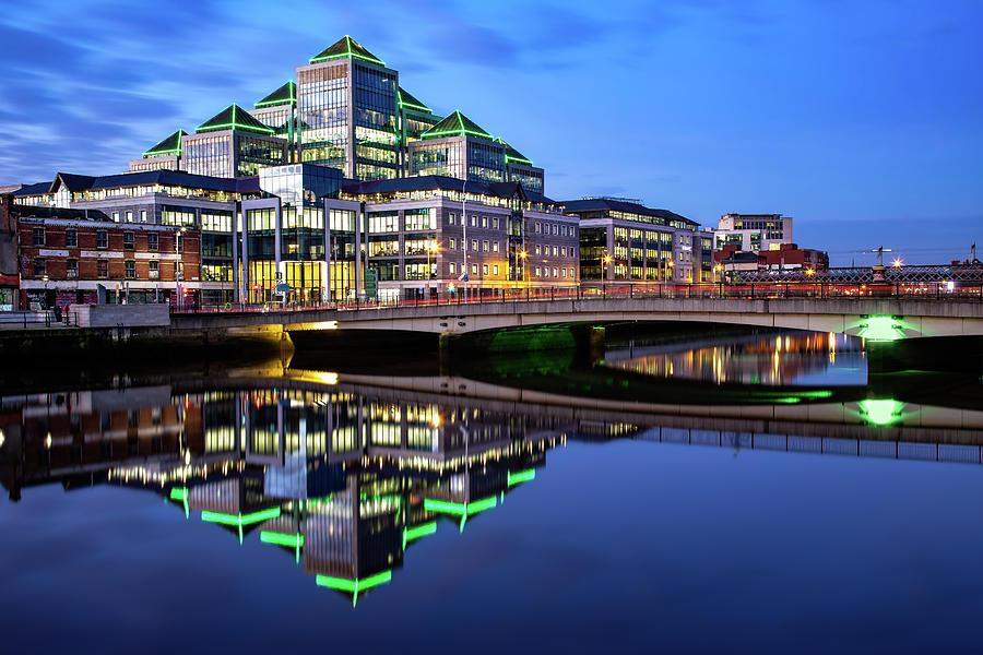 Dublin Photograph - Georges Quay Plaza - Dublin by Barry O Carroll