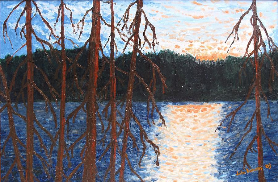 Setting Sun Painting - Georgian Bay  Ghosts by Ian  MacDonald