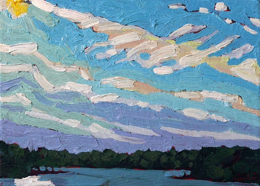 September Painting - Georgian Bay Gravity Waves by Phil Chadwick