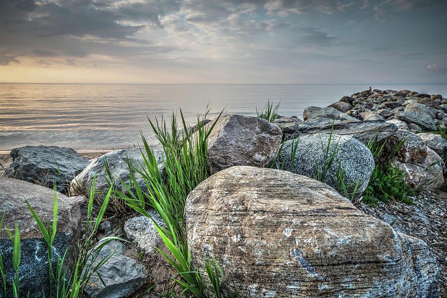 Georgian Bay Rocks Photograph by Eden Watt