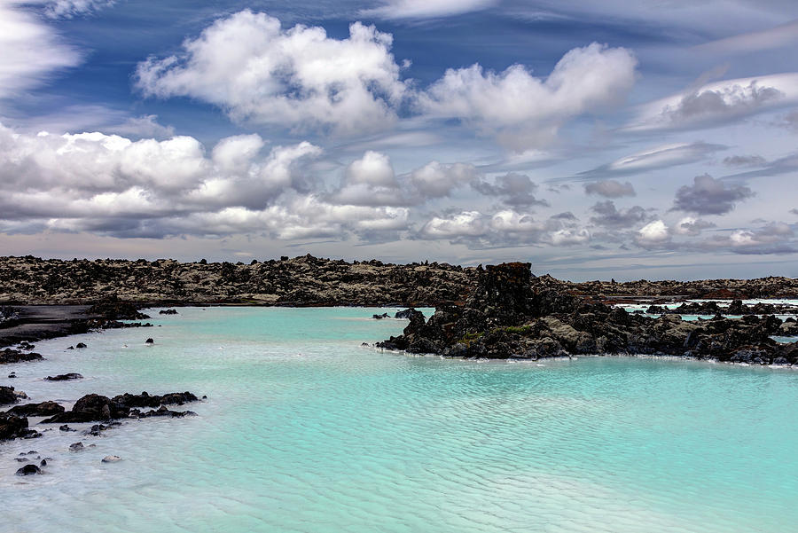 Geothermal Blue Lagoon In Iceland Photograph