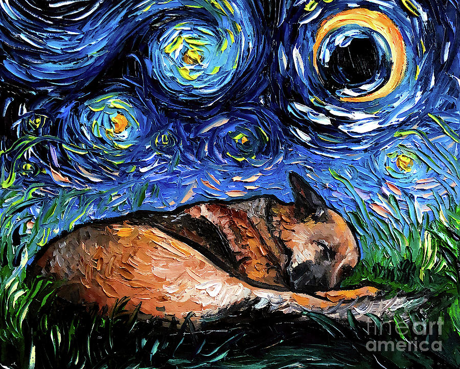 German Shepherd Painting - German Shepherd 4 by Aja Trier