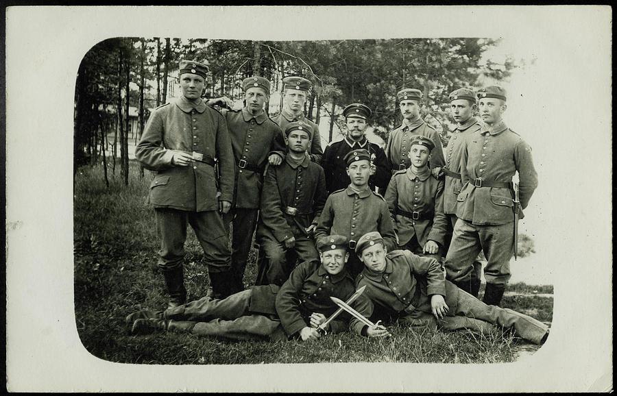 German Soldiers Wwi 1914 1918 Painting