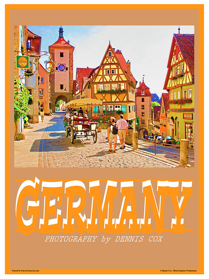Germany Travel Poster Photograph