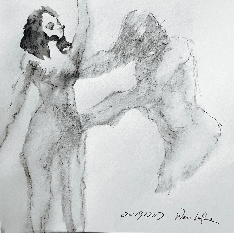Gesture 20191207-1 Drawing by Wen LePore