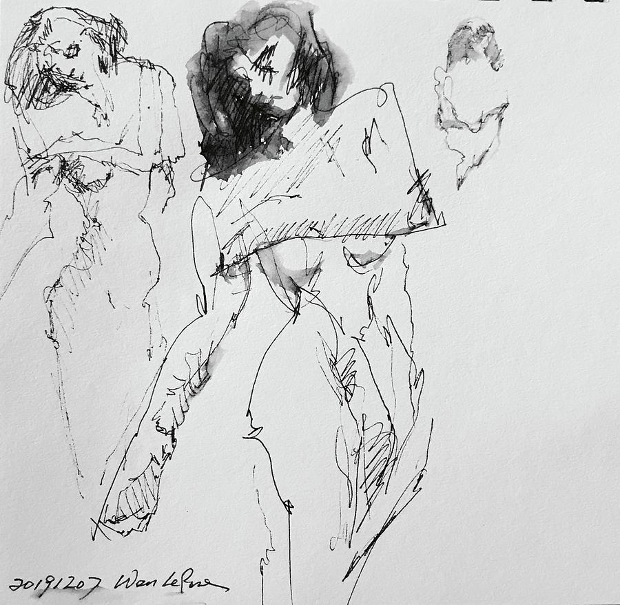 Gesture 20191207-2 Drawing by Wen LePore