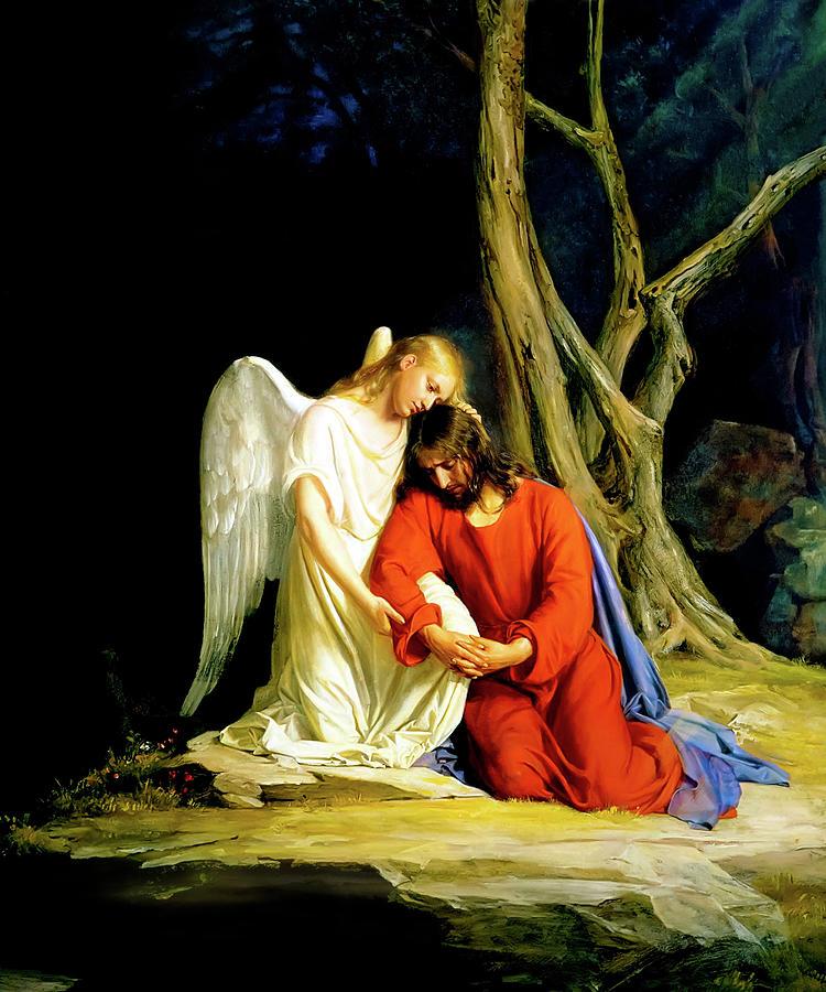 Carl Bloch Painting - Gethsemane, 1873 by Carl Bloch
