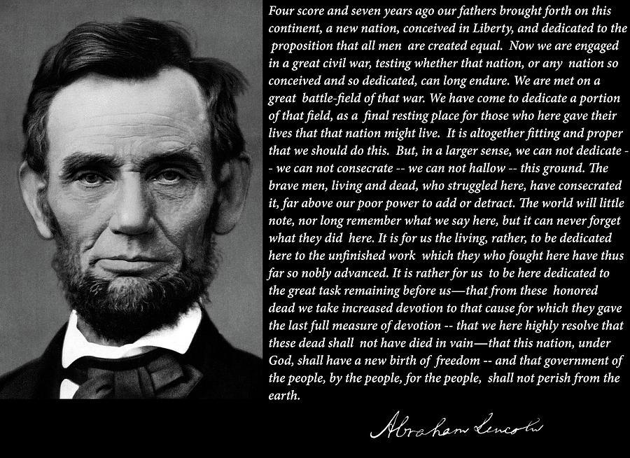 Gettysburg Address 1863 by Doc Braham