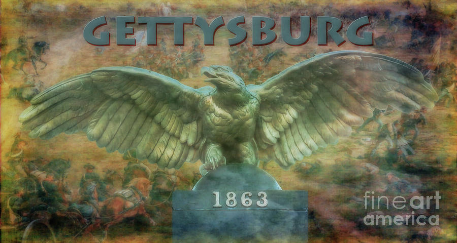 Gettysburg Battlefield Eagle Digital Art