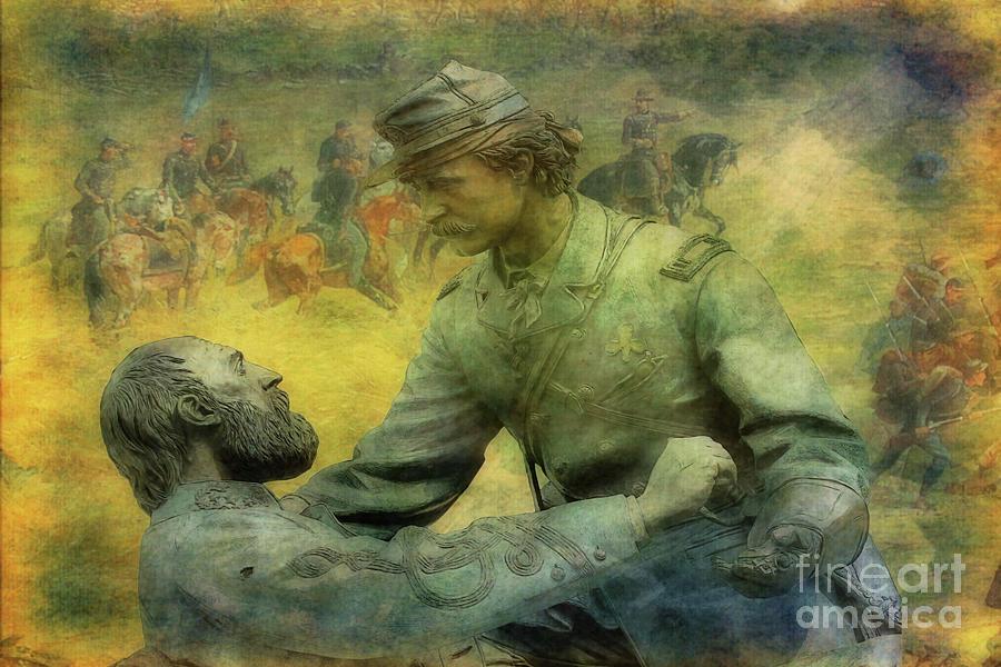 Gettysburg Friend To Friend Monument Version Four Digital Art