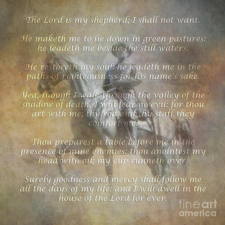 Gettysburg Monument 23rd Psalm Digital Art