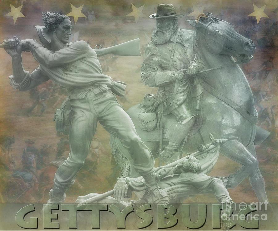 Gettysburg Monuments Longstreet Digital Art