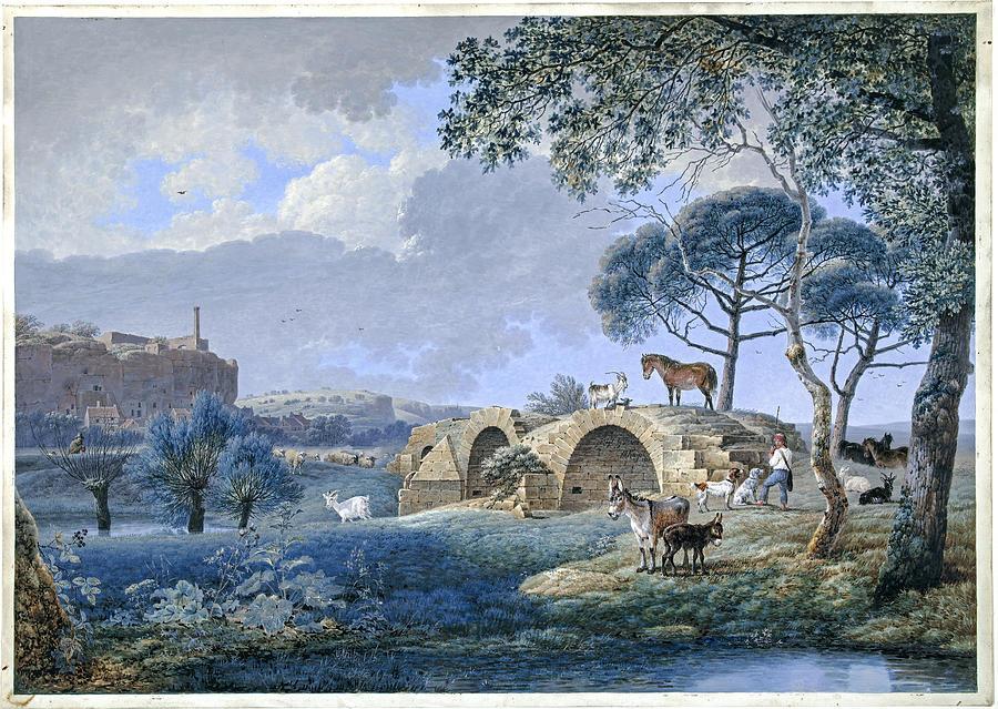 Gezicht Bij Tours Josephus Augustus Knip 1808 Painting