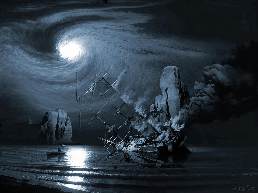 Ghost Ship Series The Birth Of The Legend Digital Art