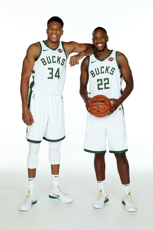 Giannis Antetokounmpo and Khris Middleton Photograph by Gary Dineen