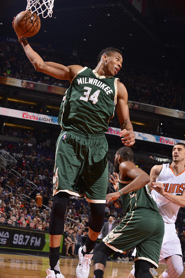 Giannis Antetokounmpo Photograph by Barry Gossage