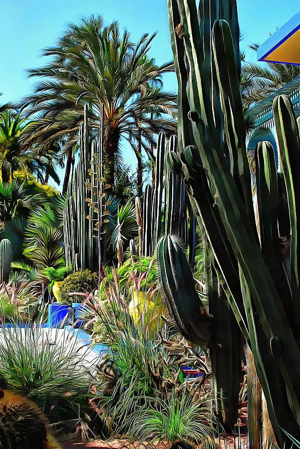 Giant Cacti Jardin Majorelle by Dorothy Berry-Lound