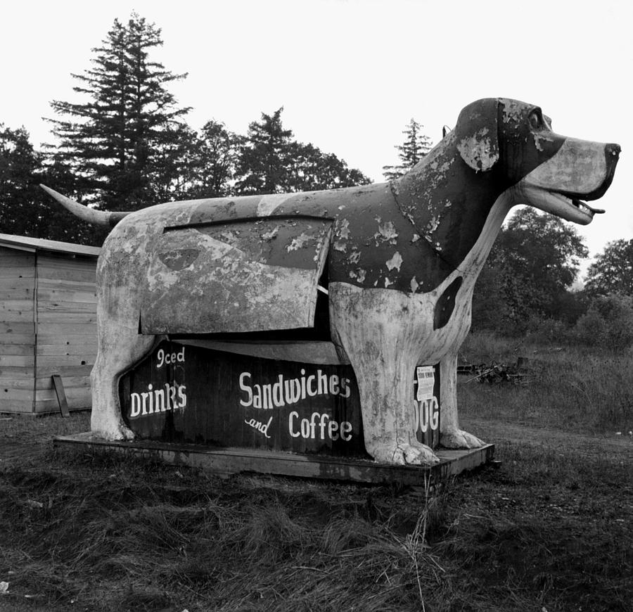 Giant Dog Refreshment Stand - Route 99 - 1939 by War Is Hell Store
