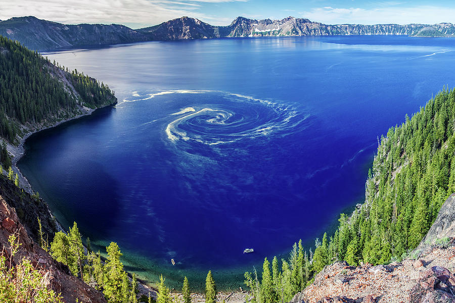 Giant Swirl At Crater Lake Photograph