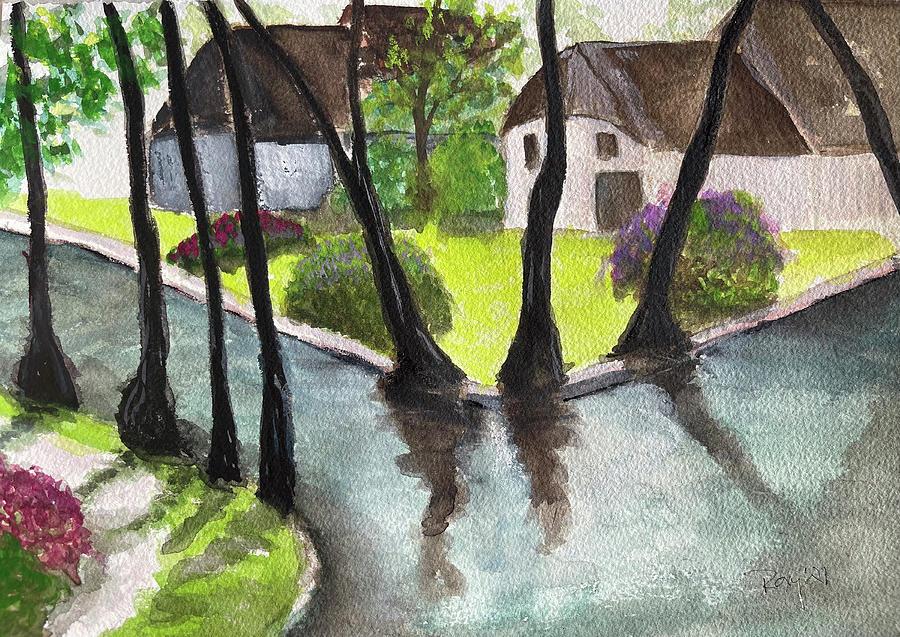 Giethoorn Netherlands Landscape Painting