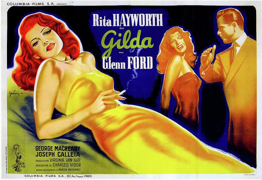 gilda Movie Poster 1946 Mixed Media